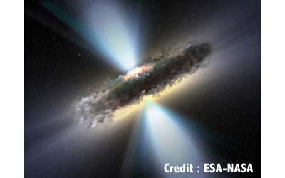 Spectre d'un Quasar avec un Lisa ou un Alpy