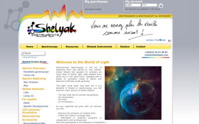 A new website for Shelyak !